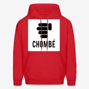 Men's Red hooded Sweatshirt/Pullover with New design Chombe (French version of Chop Nuckle) - Men's Hoodie