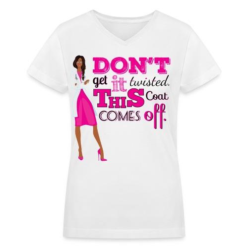 Pint Twisted Sidebraid V-neck - Women's V-Neck T-Shirt