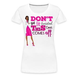 Pink Twisted Sidebraid - Women's Premium T-Shirt