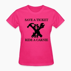 save a ticket ride a carn Women's T-Shirts