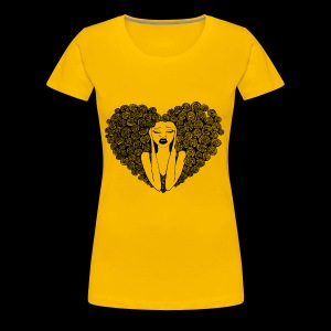 dude. shut up yellow t - Women's Premium T-Shirt