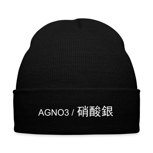 AGNO3 / 硝酸銀 Knit Beanie  - Knit Cap with Cuff Print