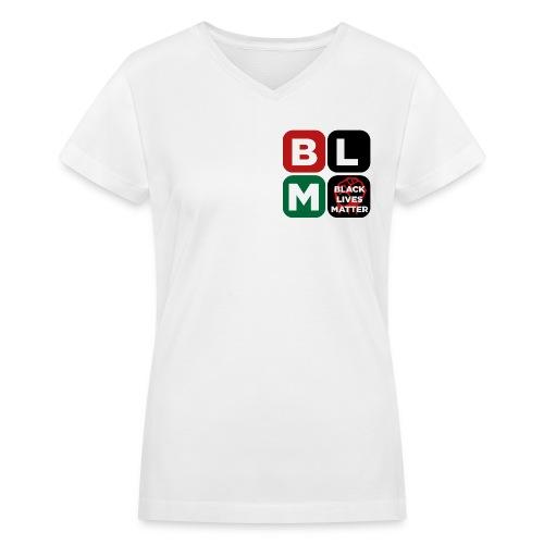 Women's V Neck Black Lives Matter - Women's V-Neck T-Shirt
