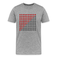 T-Shirts ~ Men's Premium T-Shirt ~ Heart Bar