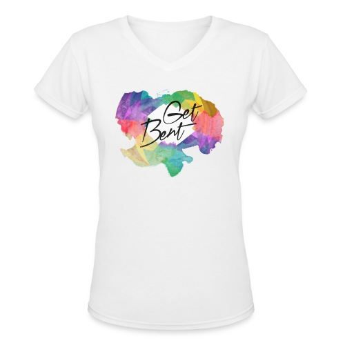 Get Bent | Rainbow Pride Tee - Women's V-Neck T-Shirt