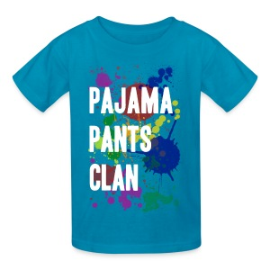 Pajama Pants Clan Teal Kids - Kids' T-Shirt
