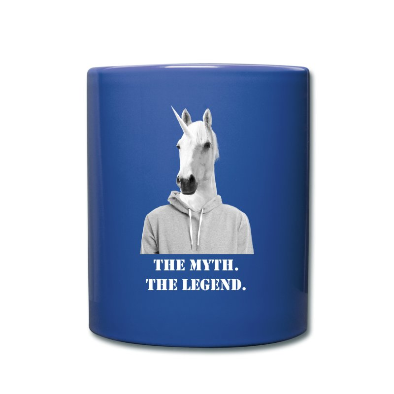 Unicorn The Myth The Legend Grey Hoodie White.png - Full Color Mug