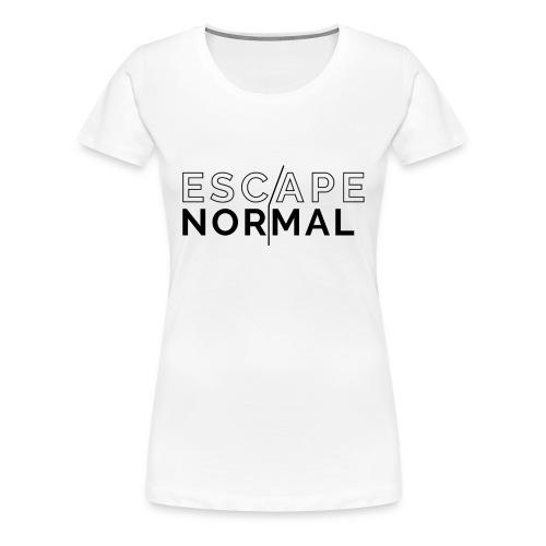 Women's Premium Escape Normal Tee - White - Women's Premium T-Shirt