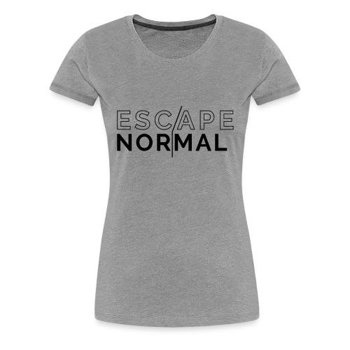 Women's Premium Escape Normal Tee - Gray - Women's Premium T-Shirt