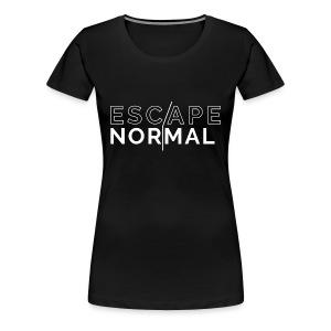 Women's Premium Escape Normal Tee - Black - Women's Premium T-Shirt