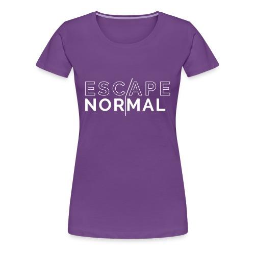 Women's Premium Escape Normal Tee - Purple - Women's Premium T-Shirt