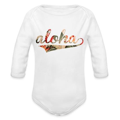 Aloha   - Organic Long Sleeve Baby Bodysuit
