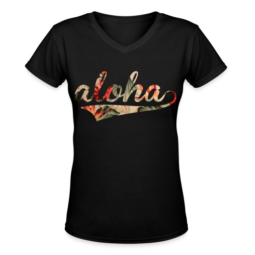 Aloha - Women's V-Neck T-Shirt