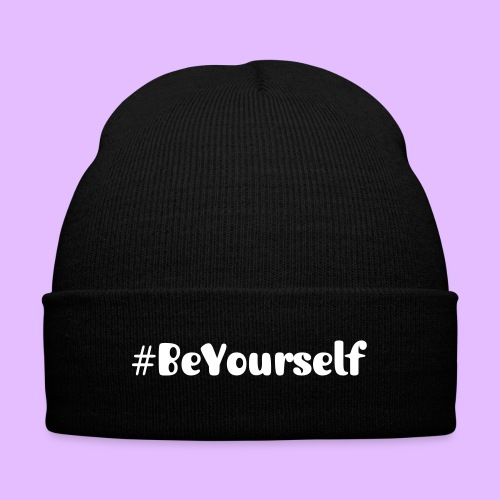 #BeYourself  - Knit Cap with Cuff Print