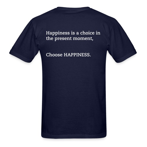 CHOOSE HAPPINESS (MENS NAVY) - Men's T-Shirt