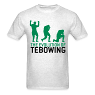 T-Shirts ~ Men's T-Shirt ~ The Evolution of Tebowing