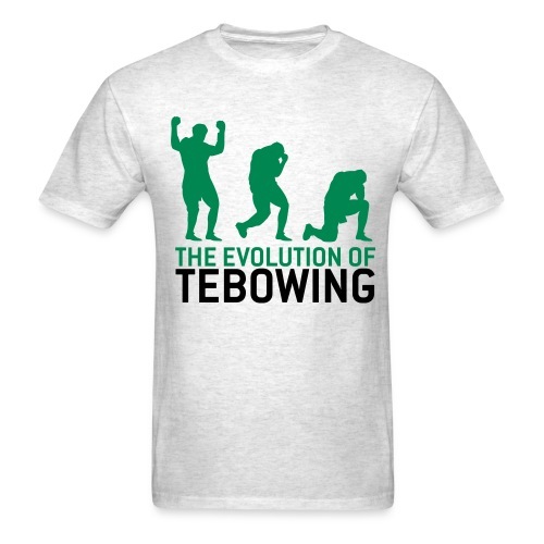 The Evolution of Tebowing - Men's T-Shirt
