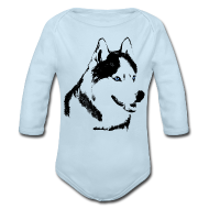 Baby Bodysuits ~ Baby Long Sleeve One Piece ~ Baby Husky Creeper Toddler Husky Malamute Bodysuit