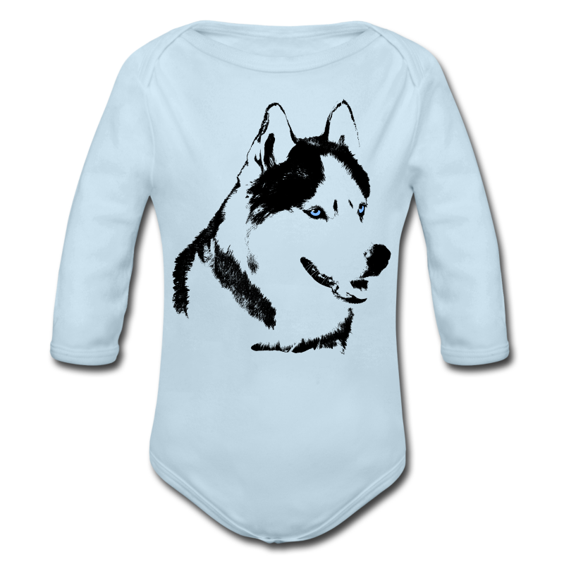 Baby Husky Creeper Toddler Husky Malamute Bodysuit - Long Sleeve Baby Bodysuit