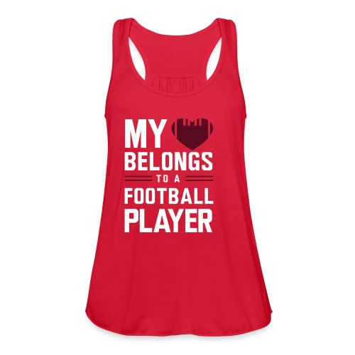 FootBall Player - Women's Flowy Tank Top by Bella