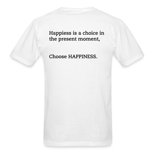 CHOOSE HAPPINESS (MENS WHITE) - Men's T-Shirt