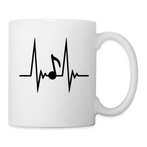 Music Over Ego: Music Sound Wave White Mug - Coffee/Tea Mug