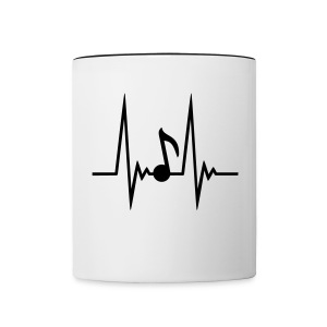 Music Over Ego: Music Sound Wave Two Toned Mug - Contrast Coffee Mug