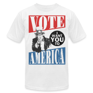 T-Shirts ~ Men's T-Shirt by American Apparel ~ Uncle Sam wants you to VOTE
