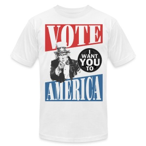 Uncle Sam wants you to VOTE - Men's T-Shirt by American Apparel