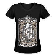 T-Shirts ~ Women's V-Neck T-Shirt ~ Fred Sanford - Women's Premium V-Neck - Black