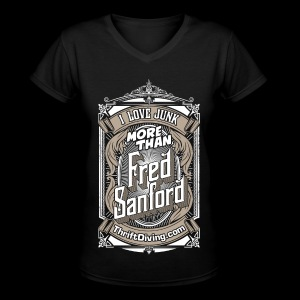 Fred Sanford - Women's Premium V-Neck - Black - Women's V-Neck T-Shirt
