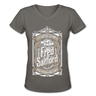 T-Shirts ~ Women's V-Neck T-Shirt ~ Fred Sanford - Women's V Neck - Graphite Gray