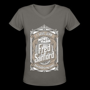 Fred Sanford - Women's V Neck - Graphite Gray - Women's V-Neck T-Shirt