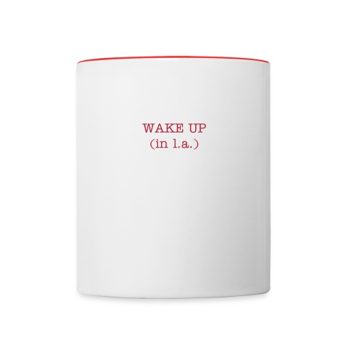 WAKE UP IN L.A. Coffee Mug (by Joto) - Contrast Coffee Mug