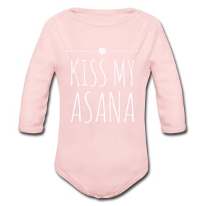 Kiss My Asana Onesie - Long Sleeve Baby Bodysuit
