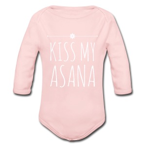 Kiss My Asana Onesie - Baby Long Sleeve One Piece