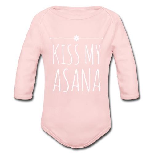 Kiss My Asana Onesie - Organic Long Sleeve Baby Bodysuit