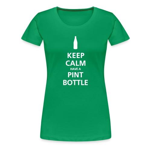 Keep Calm have a Pint Bottle (womens) - Women's Premium T-Shirt