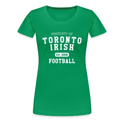 Property of Toronto Irish Football (womens) - Women's Premium T-Shirt