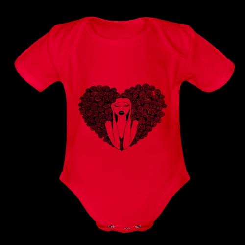 My baby's shirt. dude. - Organic Short Sleeve Baby Bodysuit