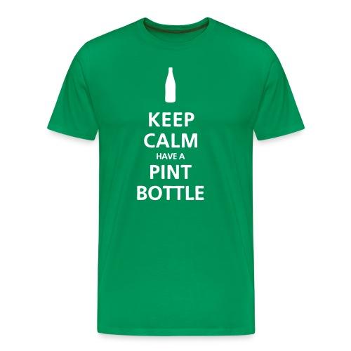 Keep Calm have a Pint Bottle - Men's Premium T-Shirt
