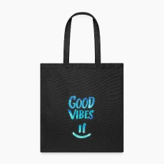 Good Vibes - Funny Smiley Statement / Happy Face Bags & backpacks