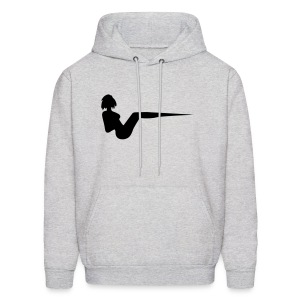 Grey Unisex Vee Hooded Sweatshirt - Men's Hoodie