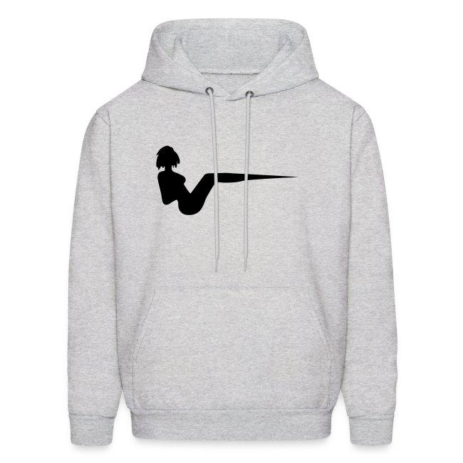 "Grey Unisex ""Vee"" Hooded Sweatshirt"