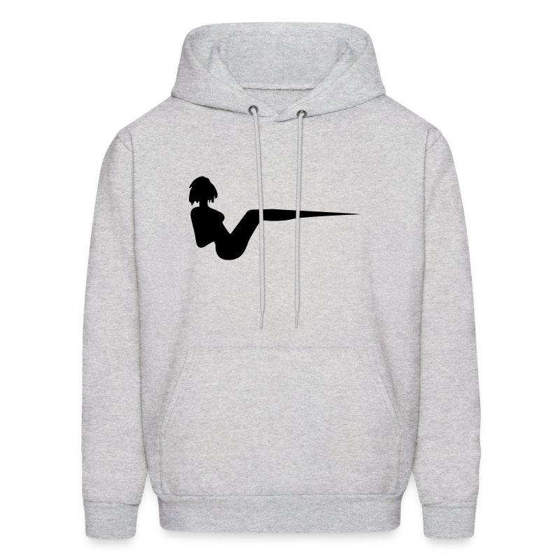 Grey Unisex Vee Hooded Sweatshirt - Men's Hoodie