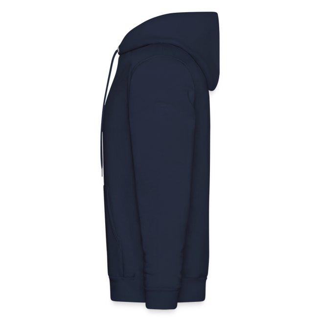 "Navy Unisex ""Vee"" Hooded Sweatshirt"
