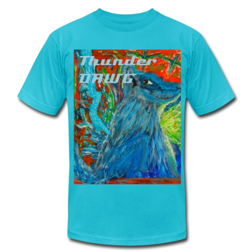 Thunder Dawg, Men's T-shirt with Text - Men's  Jersey T-Shirt