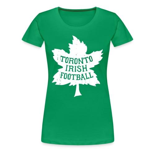 Toronto Irish Maple Leaf (womens) - Women's Premium T-Shirt