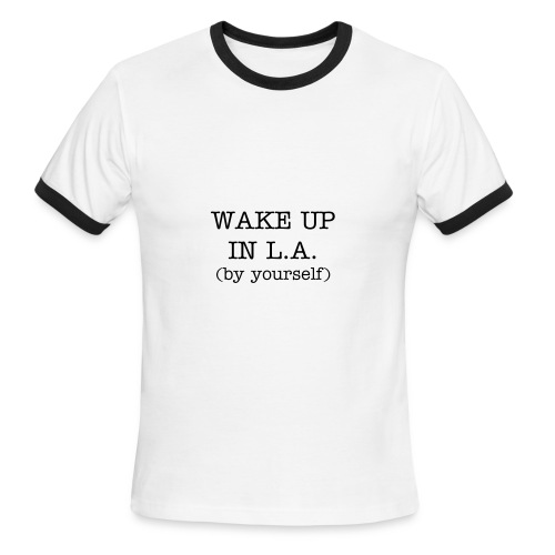 WAKE UP IN L.A. Men's Ringer T-Shirt (by American Apparel) - Men's Ringer T-Shirt