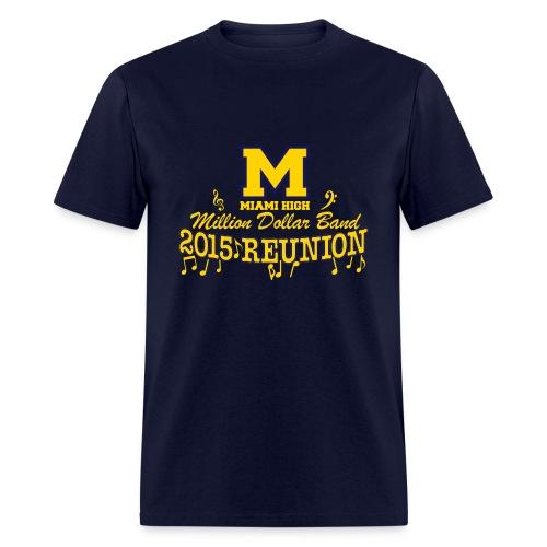 MHS Band Reunion 2015 - Navy Blue - Men's T-Shirt